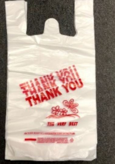 Leyso Reusable and Disposable Thank You Shopping and Grocery Bags (Medium)