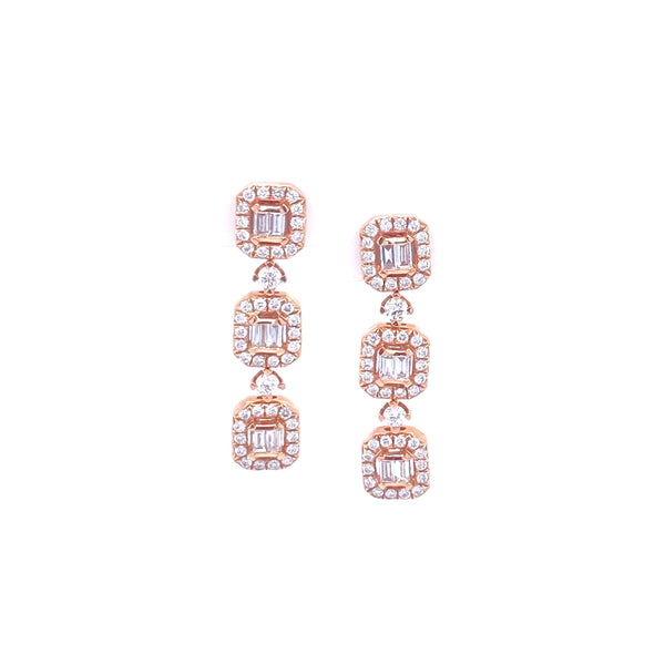Rowen Rosé Petite Earrings - Psylish