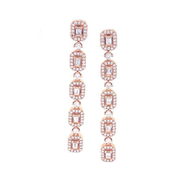 Rowen Rosé Earrings - Psylish