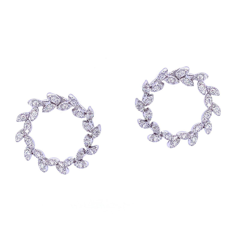 Wreath Blanc Earrings - Psylish