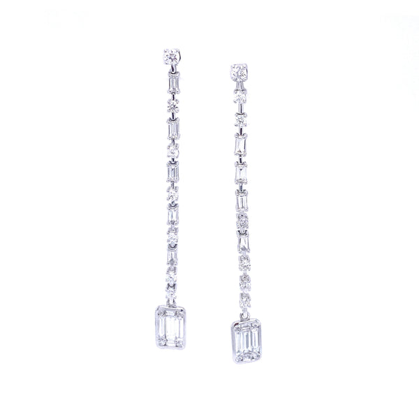 Levi Diamond Drizzle Earrings - Psylish