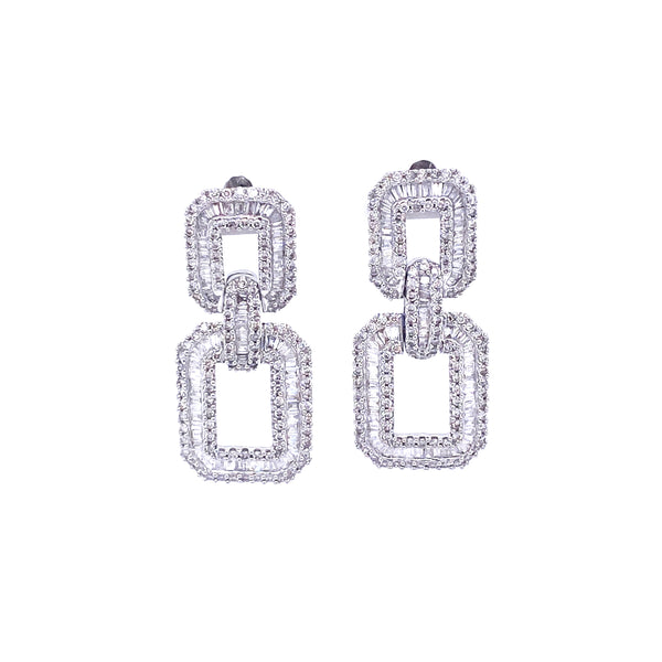Deux Cuban Link Earrings - Psylish