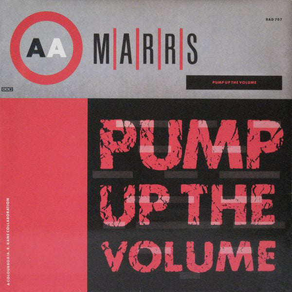 M|A|R|R|S ‎- Pump Up The Volume