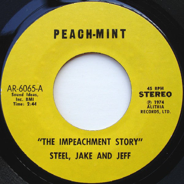 Lou Toby And His Heavies ‎– The Impeachment Story / Heavy Steppin'