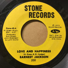 Load image into Gallery viewer, Earnest Jackson ‎– Love And Happiness / Hogwash