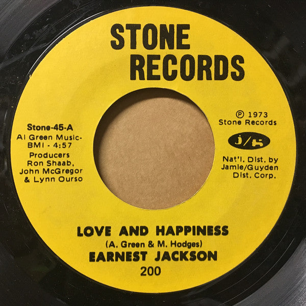 Earnest Jackson ‎– Love And Happiness / Hogwash