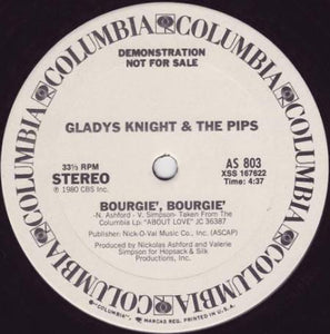 Gladys Knight & The Pips ‎– Taste Of Bitter Love / Bourgie', Bourgie' 12""
