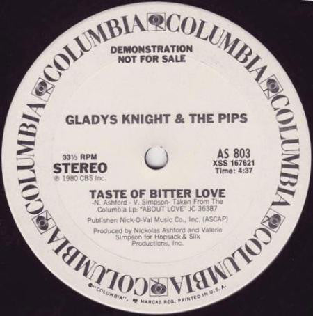 Gladys Knight & The Pips ‎– Taste Of Bitter Love / Bourgie', Bourgie' 12