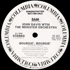 John Davis With The Monster Orchestra ‎– Bourgie', Bourgie' 12""