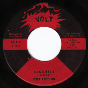 Otis Redding ‎– Security / I Want to Thank You