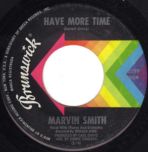 Marvin Smith ‎– Time Stopped / Have More Time