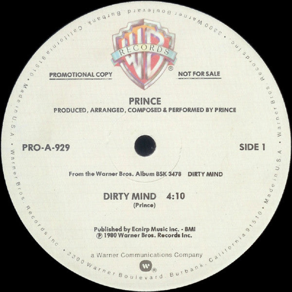 Prince ‎– Dirty Mind 12