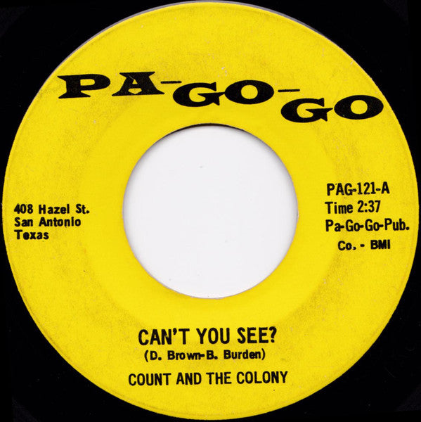 Count And The Colony ‎– Can't You See? / That's The Way (It's Got To Be)