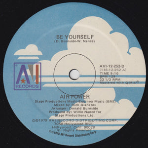 Air Power ‎– Be Yourself
