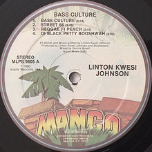 Load image into Gallery viewer, Linton Kwesi Johnson ‎– Bass Culture