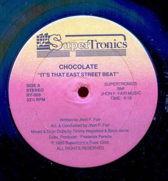 Chocolate ‎– It's That East Street Beat
