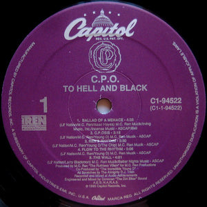 CPO* ‎– To Hell And Black
