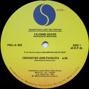 Talking Heads ‎– Crosseyed And Painless