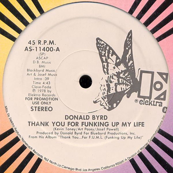 Donald Byrd ‎– Thank You For Funking Up My Life
