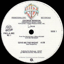 Load image into Gallery viewer, George Benson ‎– Give Me The Night