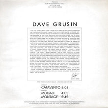 Load image into Gallery viewer, Dave Grusin ‎– Catavento