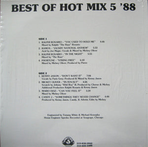 Various ‎– Best Of Hot Mix 5 '88