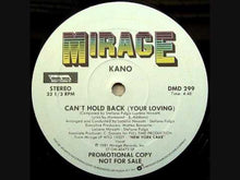 Load and play video in Gallery viewer, Kano ‎– Can't Hold Back (Your Loving)