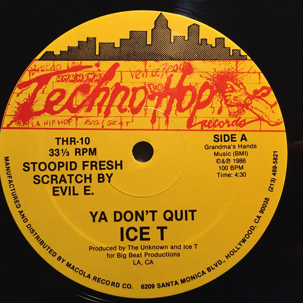 ICE T - Ya Dont Quit / Instrumental