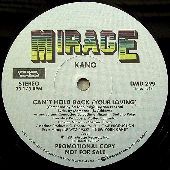 Kano ‎– Can't Hold Back (Your Loving)