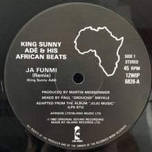 Load image into Gallery viewer, King Sunny Adé & His African Beats ‎– Ja Funmi (Remix)