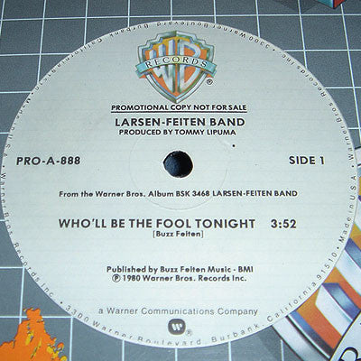 Larsen-Feiten Band ‎– Who'll Be The Fool Tonight