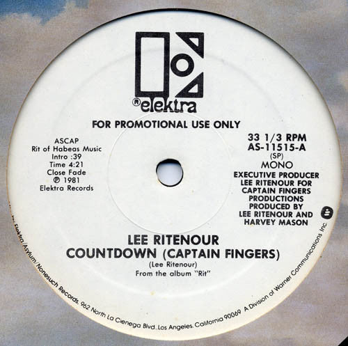 Lee Ritenour ‎– Countdown (Captain Fingers)