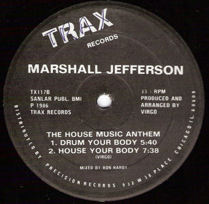 Marshall Jefferson ‎– The House Music Anthem