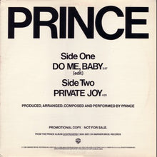 Load image into Gallery viewer, Prince - Do Me Baby / Private Joy