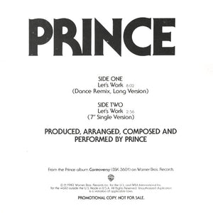 Prince ‎– Let's Work