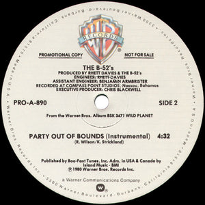 The B-52s - Private Idaho B/W Party Out Of Bounds