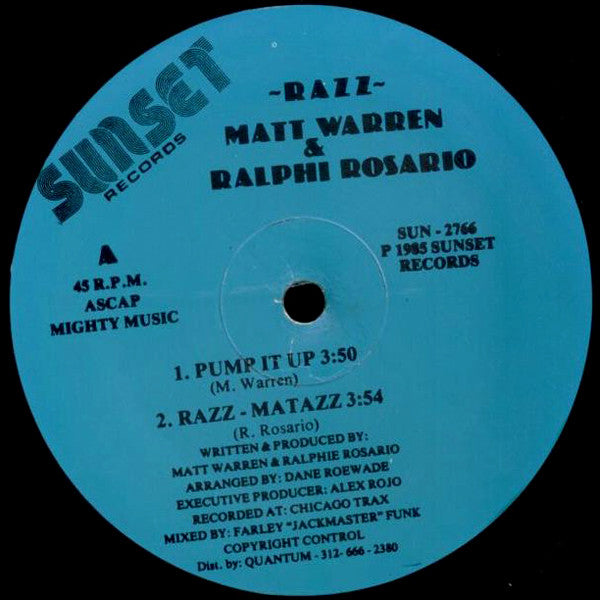 Razz* Featuring Matt Warren & Ralphi Rosario ‎– Pump It Up