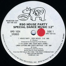 Load image into Gallery viewer, Various ‎– RSO House Party - Special Dance Music 12""