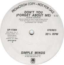 Load image into Gallery viewer, Simple Minds ‎– Don't You (Forget About Me)