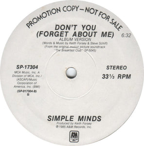 Simple Minds ‎– Don't You (Forget About Me)