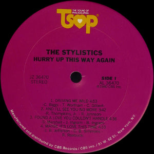 The Stylistics ‎– Hurry Up This Way Again