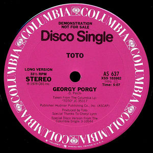 Toto ‎– Georgy Porgy (Special Disco Remix)
