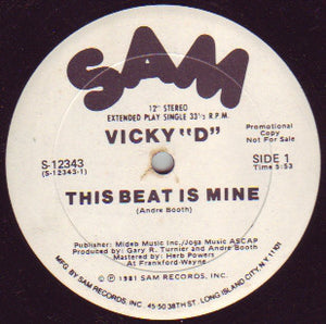"Vicky ""D"" ‎– This Beat Is Mine"