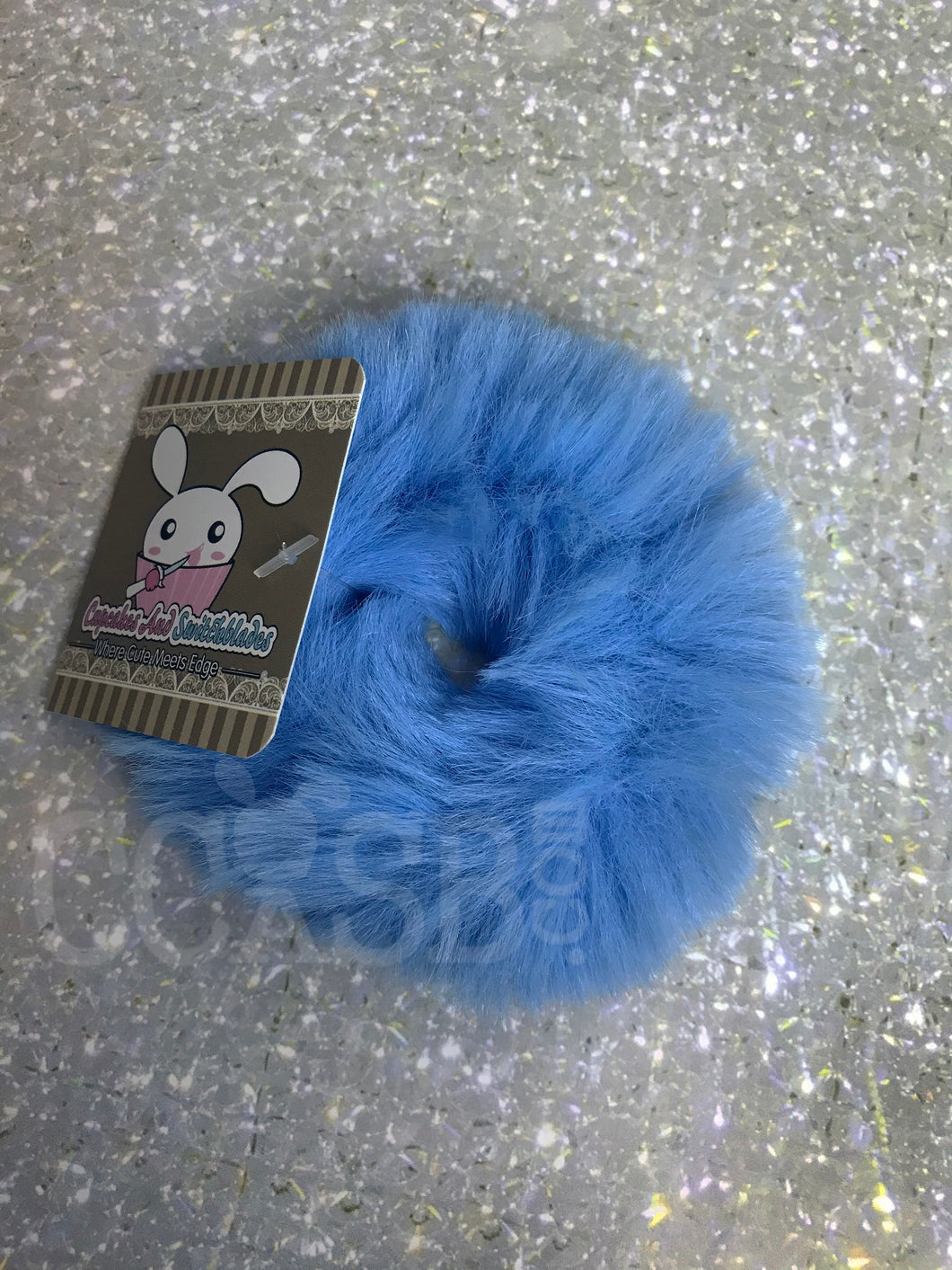 Blue Candy Scrunchie