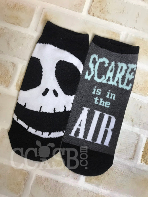 Nightmare Before Christmas Jack Scare in the Air No Show Socks