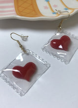 Load image into Gallery viewer, Heart Candy Wrapper Earrings