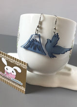 Load image into Gallery viewer, Bird And Mountain Acrylic Earrings