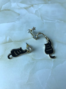 Galaxy Cat Dangle Earrings
