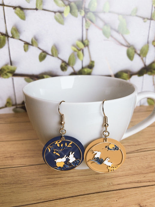 Moon Rabbit Earrings
