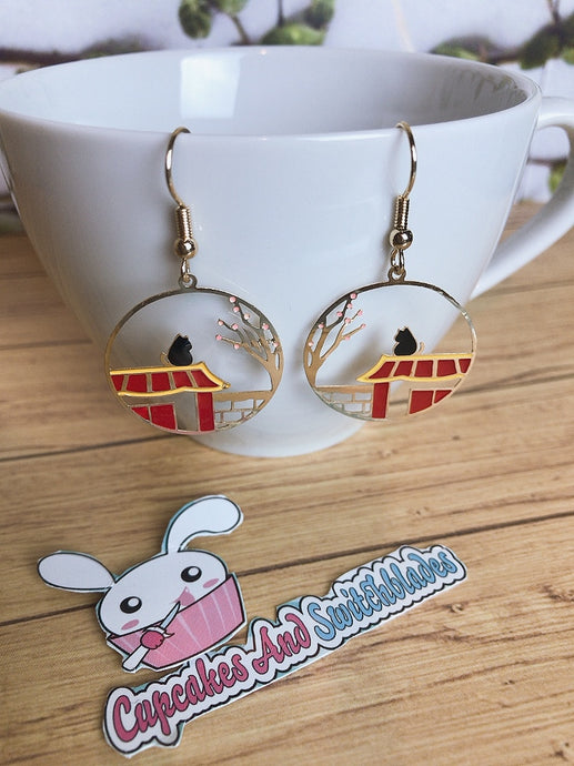 Machiya Cat Earrings